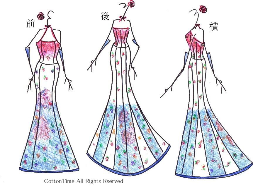 着物リメイク-デザイン